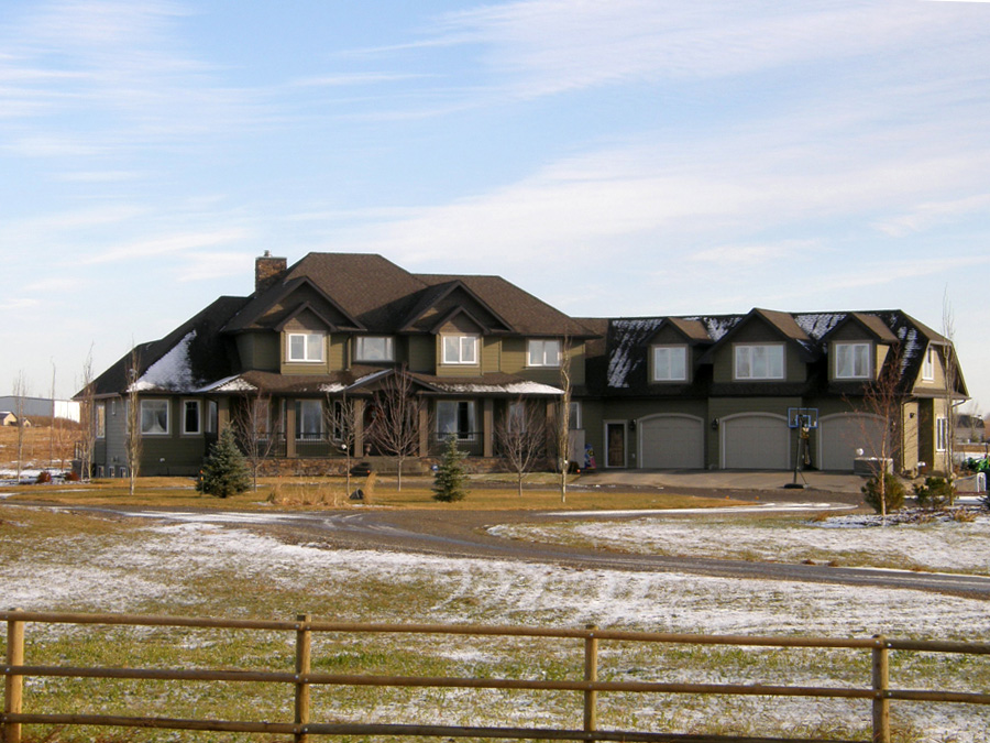 Acreage 3 home design fine line homes calgary home for Acreage home builders