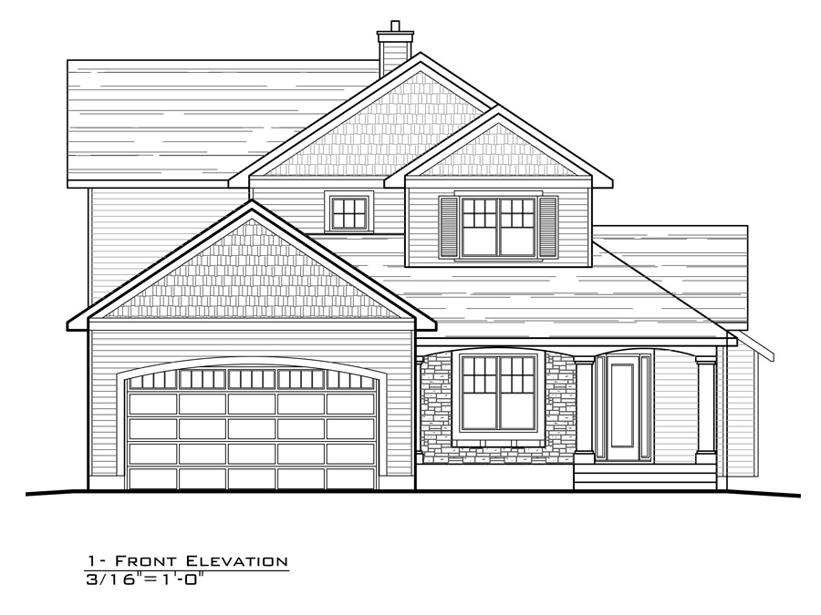 Town Lot 1   Front Elevation