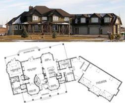 Calgary Area Acreage Custom House Floor Plans Fine Line