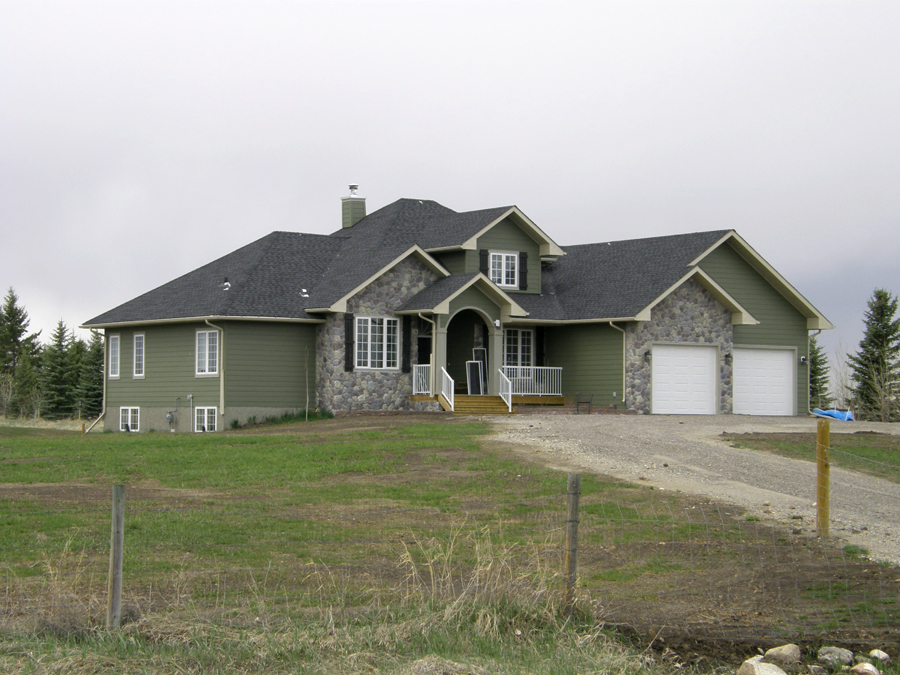 Acreage 1 home design fine line homes calgary home for Acreage home builders